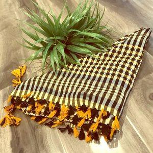 VINTAGE Triangle plaid scarf